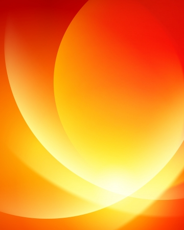 orange swirl: Colorful smooth twist light lines vector background