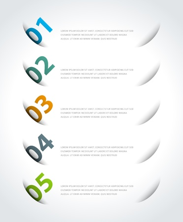 Infographics options design elements  Vector illustration  Cut paper and banner numbers website Stock Vector - 21858154