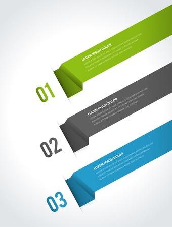 インフォ グラフィック オプション要素ベクトル イラスト紙と番号ウェブサイト eps 10 のバナー