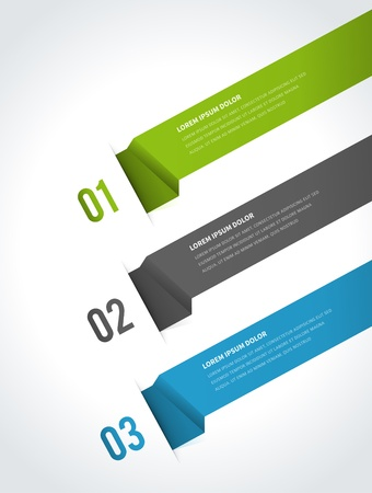 Infographics options design elements  Vector illustration  Paper and banner numbers website eps 10