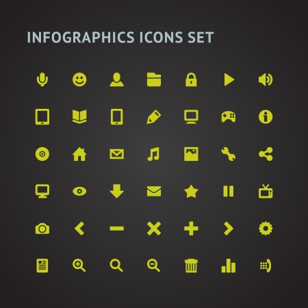 Set Infographics web icons or design elements  Vector illustration Stock Vector - 21858176