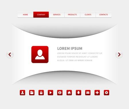 slider: Website header design template