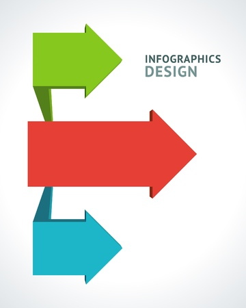 Infographics options design elements  Vector illustration  3d arrows banner numbers and icons website  Vector