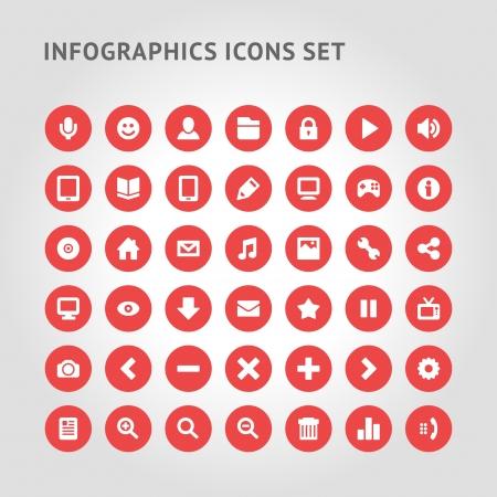 Set Infographics web icons or design elements  Vector illustration   일러스트