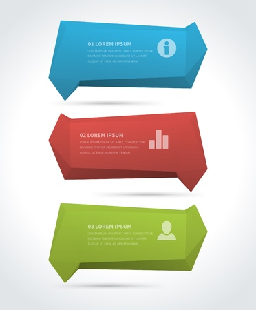 Infographics options design elements  Vector illustration  Paper banner and numbers website  Vector
