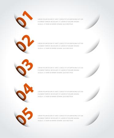 Infographics options design elements Stock Vector - 21853019