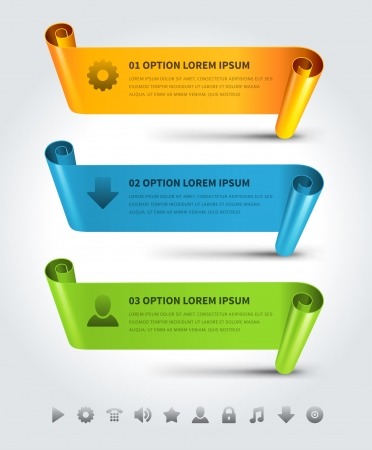 business banner: Infographics options design elements