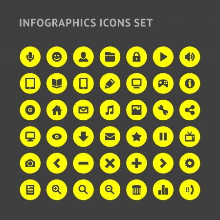 icons web: Set Infographics web icons or design elements