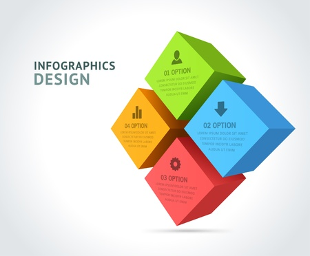 Infographics options design elements    Vectores