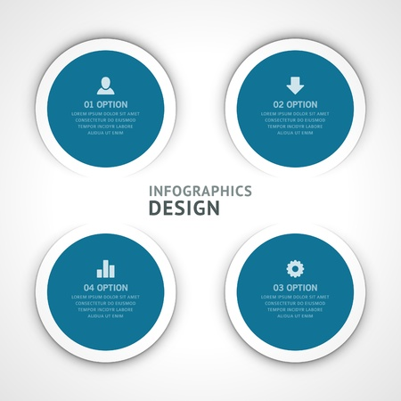 Infographics options design elements  Stock Vector - 21853026