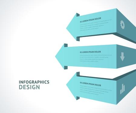 Infographics options design elements Stock Vector - 21853025