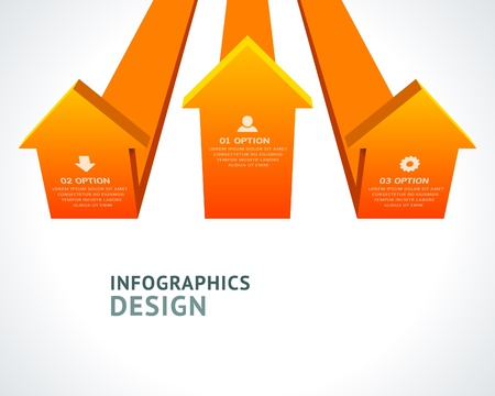 Infographics options design elements  Stock Vector - 21853028