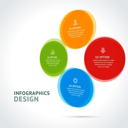 Infographics options design elements Stock Vector - 21853125