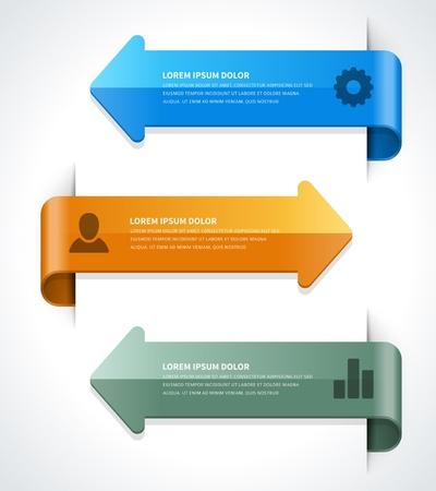 インフォ グラフィック オプションのデザイン要素  イラスト・ベクター素材