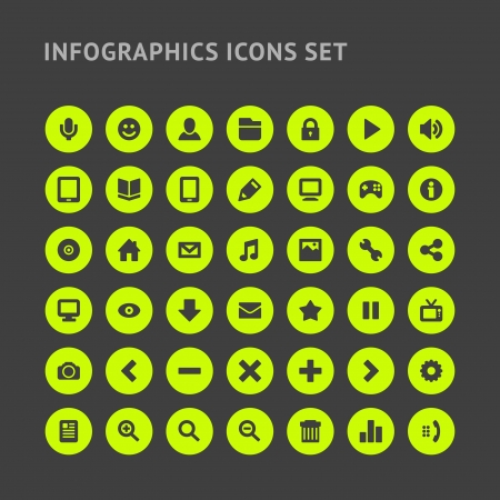 Set Infographics web icons or design elements   Vector