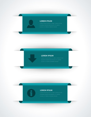 Infographics options design elements  Vector illustration  Scroll paper banner or header numbers website