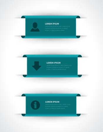 Infographics opties ontwerpelementen Vector illustratie document van de rol banner of header nummers website