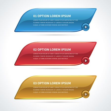 Infographics options design elements Vector
