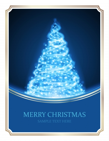 christmas christmas tree: Christmas tree from light vector background  Card or invitation  Eps 10