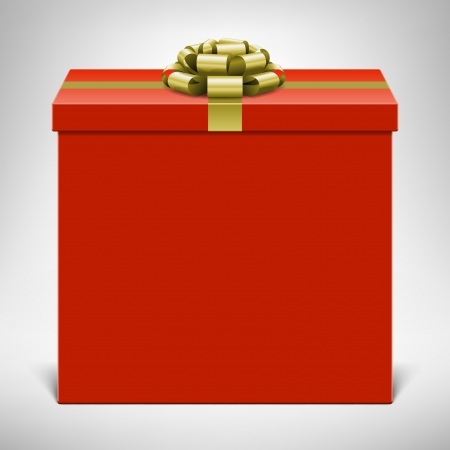 presents: Gift box with gold bow  Vector background eps 10   Illustration