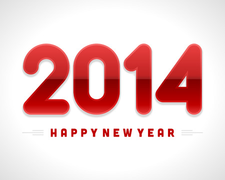 Happy new year 2014  message applique vector design element  Eps 10   Vector