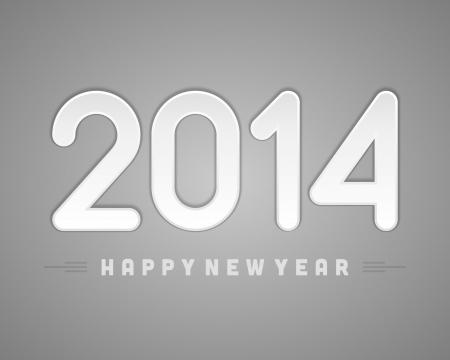 Happy new year 2014 message applique vector design element  Eps 10 Stock Vector - 22378091