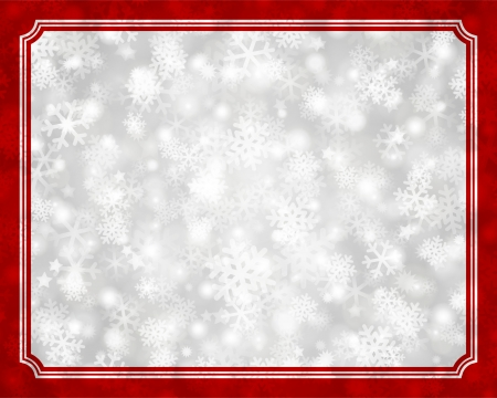 Christmas light and snowflakes vector background  Card or invitation decoration   Vector