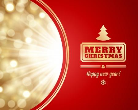 estrellas de navidad: Luz de la Navidad del vector Tarjeta o invitación Fondo de decoración Vectores