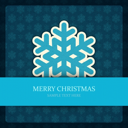 Christmas background and snowflakes vector illustration  Vector