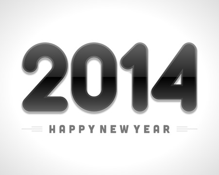 Happy New Year 2014 message vector background  Eps 10  Vector