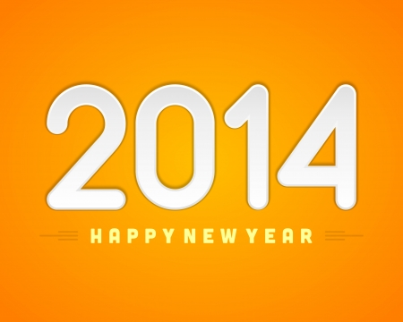 Happy New Year 2014 message vector background  Eps 10 Stock Vector - 22964754