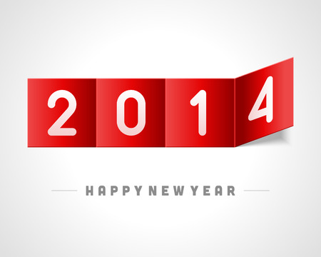 bend: Happy New Year chalk 2014 on bend paper vector background  Eps 10