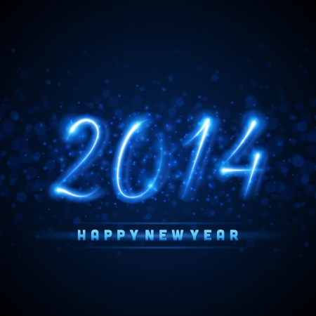 Happy new year 2014 message from light vector background  Eps 10   Vector