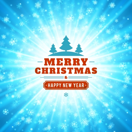 Christmas light vector background  Card or invitation   Stock Vector - 22964495