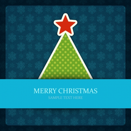 Christmas tree vector background  Christmas card or invitation  イラスト・ベクター素材