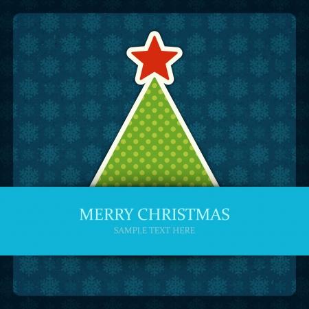 Christmas tree vector background  Christmas card or invitation Illustration