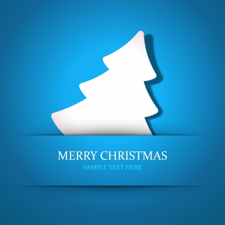 Christmas tree applique vector background  Christmas card or invitation Stock Vector - 22963722
