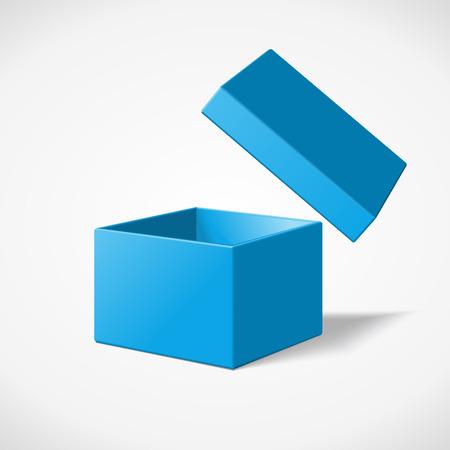 Open blue gift box Illustration
