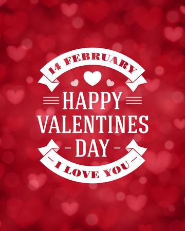 Happy Valentines day vector background Vector