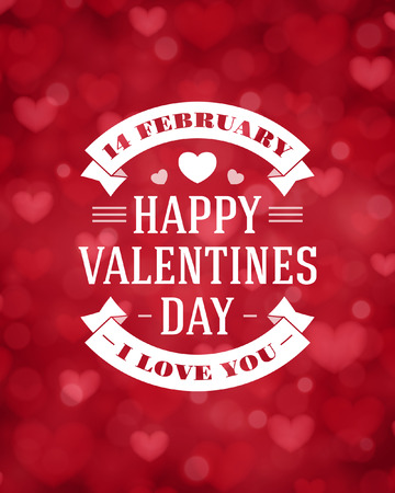 Happy Valentines day vector background Stock Vector - 35753883