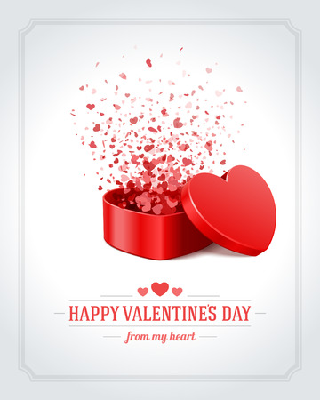 heart design: Happy Valentines day vector background