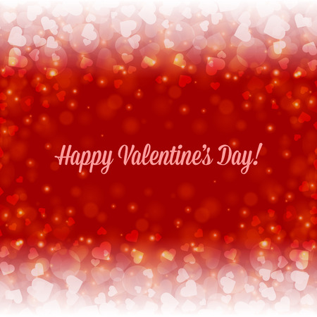 valentine's day banner: Happy Valentines day vector background