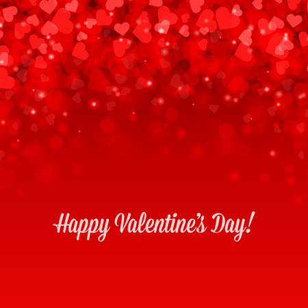 Happy Valentines day vector background Banco de Imagens - 35753936