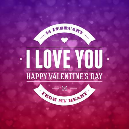 love card: Happy Valentines d�a de vectores de fondo Vectores