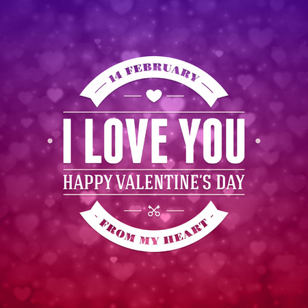 love you: Happy Valentines day vector background