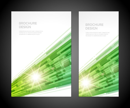 technology cover: Brochure business design template or banner  Abstract background   Illustration