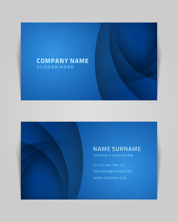 call card: Vector abstract creative business card design template  Technology background   Illustration