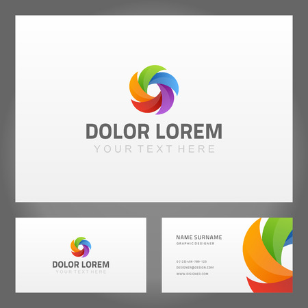 company name: Abstract creative icon and business card  Vector design element
