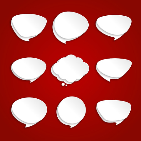 Empty retro speech bubbles set  Vector