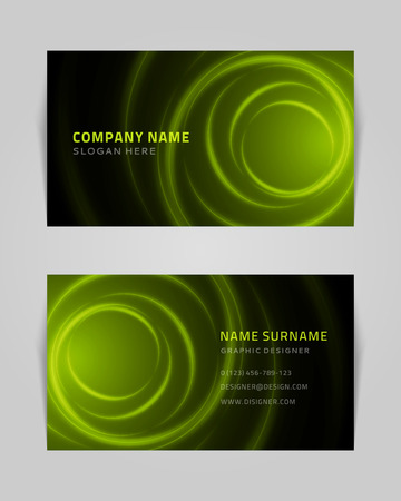 calling: Vector abstract creative business card design template  Light waves background